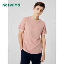 T-shirt Youth fashion routine S M L XL 2XL 3XL Hot wind Short sleeve Crew neck standard daily summer Cotton 100% youth routine Basic public other Summer 2020 Alphanumeric printing cotton other other Domestic famous brands Same model in shopping mall (sold online and offline) More than 95%