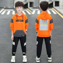 suit Other / other Black, yellow, orange 120cm,130cm,140cm,150cm,160cm,170cm male spring and autumn Korean version Long sleeve + pants 2 pieces routine There are models in the real shooting Socket No detachable cap Cartoon animation cotton children Giving presents at school RGQ Class B