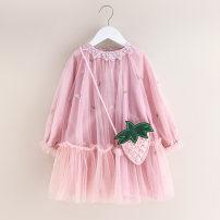 Dress Strawberry bag dress pink, strawberry bag dress beibai female Other / other Other 100% spring and autumn Strawberry bag dress Class B 2, 3, 4, 5, 6, 7, 8, 9, 10, 11, 12, 13, 14 years old Chinese Mainland Zhejiang Province Huzhou City