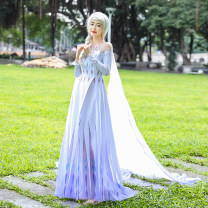 Cosplay women's wear skirt goods in stock Over 8 years old Dress (+ send pants) Movies L,M,S,XL,XXL,XXXL Butterfly House Europe and America Royal sister model Frozen Aisha clothing
