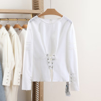 shirt white S,M,L,XL Spring 2021 cotton 30% and below Long sleeves Regular Solid color Other / other R8C2093