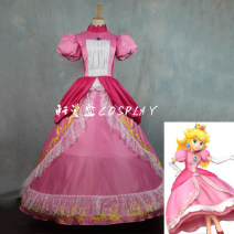 Cosplay women's wear skirt Customized Over 6 years old Orange, pink comic 50. M, s, XL, customized Xuanmansheng Lovely wind Peach Princess Dress