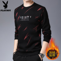 T-shirt Youth fashion Plush and thicken M. L, XL, 2XL, 3XL, 4XL 190 Others Long sleeves Crew neck standard Other leisure winter youth routine tide Cotton wool 2019 Cotton polyester No iron treatment