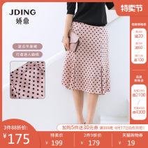 skirt Summer 2020 S M L XL XXL Pink Mid length dress Versatile High waist Irregular Dot 30-34 years old DJFS436 More than 95% Jding / Jiaoding polyester fiber Polyester 100% Pure e-commerce (online only)