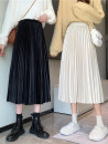 skirt Winter 2020 Average size Apricot, grey, black Mid length dress commute High waist Pleated skirt Solid color Type A 18-24 years old 31% (inclusive) - 50% (inclusive) Other / other Korean version