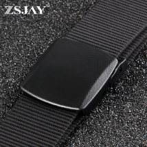Belt / belt / chain canvas male belt Versatile Single loop Youth, middle age and old age Smooth button Glossy surface soft surface 3.8cm alone ZS-F14
