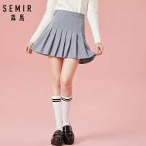 skirt Winter of 2018 150/58A/XS 155/62A/S 160/66A/M 165/70A/L 170/74A/XL 175/78A/XXL Black 9000 light grey 2000 Short skirt Versatile Natural waist Pleated skirt Solid color Type A 18-24 years old 19-078200313 91% (inclusive) - 95% (inclusive) other Semir / SEMA polyester fiber