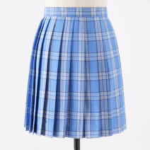 skirt Summer 2020 S,M,L,XL Short skirt Sweet High waist Pleated skirt lattice 18-24 years old 71% (inclusive) - 80% (inclusive) cotton solar system