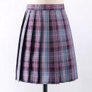 skirt Summer 2020 XS,S,M,L,XL,2XL Girls' 43cm skirt, girls' 48CM skirt Short skirt Sweet High waist Pleated skirt lattice 18-24 years old Q-033 More than 95% polyester fiber solar system