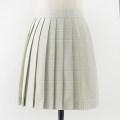 skirt Summer 2020 S,M,L,XL Green fruit 43cm skirt Short skirt Sweet High waist Pleated skirt lattice 18-24 years old L-034 71% (inclusive) - 80% (inclusive) cotton solar system