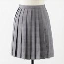 skirt Summer 2020 S,M,L,XL,2XL Fine grain grey 43cm skirt Short skirt Sweet High waist Pleated skirt lattice 18-24 years old C-034 71% (inclusive) - 80% (inclusive) cotton solar system