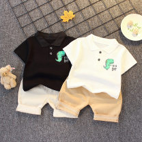 suit Other / other 80cm,90cm,100cm,110cm,120cm male summer fashion Short sleeve + pants 2 pieces routine There are models in the real shooting Socket nothing Cartoon animation cotton children Shopping Class A Cotton 95% polyurethane elastic fiber (spandex) 5% Chinese Mainland