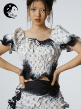 Fashion suit Summer 2020 S, M Top spot, half skirt spot, top pre-sale, half skirt pre-sale 18-25 years old