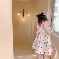 Dress white female Other / other The recommended height is 90cm for size 7, 100cm for size 9, 110cm for size 11, 120cm for size 13 and 130cm for size 15 Other 100% summer Korean version Skirt / vest Broken flowers other Princess Dress Class B