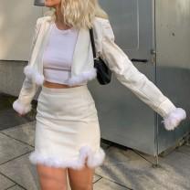 Fashion suit Autumn 2020 S,M,L Off white 18-25 years old dulzura 81% (inclusive) - 90% (inclusive) polyester fiber