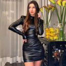 Dress Winter 2020 black S,M,L Short skirt singleton  Long sleeves street Crew neck High waist Solid color Socket Pencil skirt routine Others 18-24 years old Type H dulzura D0A3441K 81% (inclusive) - 90% (inclusive) other polyester fiber Europe and America
