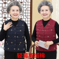 Middle aged and old women's wear Autumn 2020 Purple, Navy, red L [recommended 80-95 kg], XL [recommended 95-105 kg], XXL [recommended 105-118 kg], XXXL [recommended 118-128 kg], 4XL [recommended 128-140 kg] leisure time Vest Self cultivation singleton  Solid color 40-49 years old Cardigan moderate