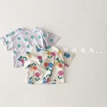 T-shirt Green dot (reservation), rice white flower (reservation) Other / other XS(80cm),S(90cm),M(100cm),L(110cm),XL(120cm) neutral other other 18 months, 2 years old, 3 years old, 4 years old, 5 years old, 6 years old