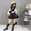 skirt White, black Other / other female Other 100% summer Miniskirt leisure time Solid color A-line skirt cotton W2530