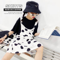 Dress Wave point female Other / other Other 100% summer leisure time Short sleeve cotton Splicing style W2529 7, 8, 14, 3, 6, 13, 11, 5, 10, 4, 9, 12 Chinese Mainland