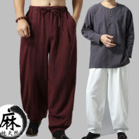 Casual pants Mafan cloth clothes Fashion City S,M,L,XL routine trousers Other leisure easy autumn Chinese style 2017 middle-waisted hemp