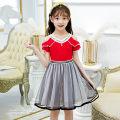 Dress Red, black female Bad little treasure 110cm,120cm,130cm,140cm,150cm,160cm,165cm Other 100% summer princess Skirt / vest other cotton A-line skirt Class B Three, five, nine, seven, eight, eleven, four, ten, six