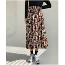 skirt Winter 2020 S,M,L Black, brown longuette commute High waist Pleated skirt Decor Type A 25-29 years old QZ812 More than 95% Chiffon polyester fiber printing Retro