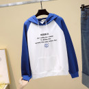 Sweater / sweater Spring 2021 Purple, blue, yellow, black M,L,XL Long sleeves routine Socket routine Hood Straight cylinder commute raglan sleeve letter 18-24 years old 51% (inclusive) - 70% (inclusive) Korean version cotton Frenulum cotton