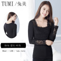 T-shirt Spring 2017 Nine point sleeve square neck Self cultivation Regular Petal sleeve commute modal  86% (inclusive) -95% (inclusive) lady originality Plants and flowers Yumei