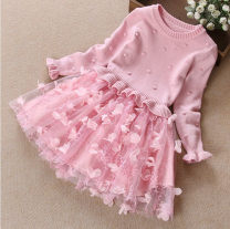 Dress female Other / other 100cm,110cm,120cm,130cm,140cm,150cm Other 100% spring and autumn lady blending other