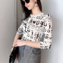 T-shirt black and white S,M,L,XL Summer 2020 Long sleeves Crew neck Self cultivation Regular routine commute nylon 96% and above 25-29 years old lady originality letter Professional amashite 5300432-1a73761-001 Gauze, elegant style