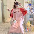 Nightdress Huizi family Cartoon Short sleeve longuette Living clothes letter summer youth Crew neck cotton printing 6912# one hundred and sixty ( M ), one hundred and sixty-five ( L ), one hundred and seventy ( XL ), one hundred and seventy-five ( XXL ), A gift for the exclusive collection