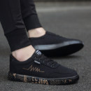 canvas shoe 39,40,41,42,43,44 Frenulum Low Gang Other / other 1717 black gold, 1717 black, 1717 black and white, slippers Flat heel summer The trend of youth Netting rubber light Solid color Adhesive shoes Sewing Korean version