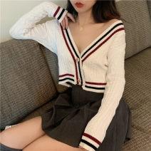 Wool knitwear Autumn 2020 Average size Black coat, white coat nylon 81% (inclusive) - 90% (inclusive)