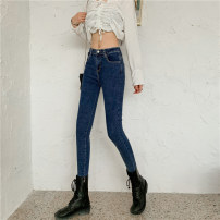Jeans Summer 2020 Dark blue, light blue S,M,L,XL,2XL trousers High waist Pencil pants routine 18-24 years old