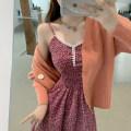 Fashion suit Autumn 2020 Average size Floral suspender skirt 30119, orange cardigan 30200 18-25 years old 51% (inclusive) - 70% (inclusive)