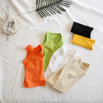 Vest sling White, black, apricot, light yellow, fruit green, gray green, turmeric, orange, wood powder, light gray, light purple, jujube Sleeveless 80,90,100,110,120,130 summer Seando neutral No model leisure time Solid color Crew neck nothing Pure cotton (95% and above) Cotton 100% T-027