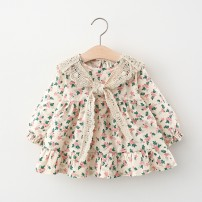 Dress female Other / other 66cm,73cm,80cm,85cm,90cm,95cm,100cm,105cm Cotton 95% other 5% spring and autumn Korean version Long sleeves Broken flowers cotton Princess Dress 12 months, 6 months, 9 months, 18 months, 2 years, 3 years, 4 years