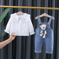 suit Other / other 66cm,73cm,80cm,85cm,90cm,95cm,100cm,105cm female spring and autumn Korean version Long sleeve + pants 2 pieces routine There are models in the real shooting Socket nothing Cartoon animation cotton children Expression of love Cotton 90% polyurethane elastic fiber (spandex) 10%