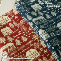 Fabric / fabric / handmade DIY fabric cotton Red (1.5m fixed width x half meter) blue (1.5m fixed width x half meter) Loose shear clothing 100%