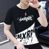 T-shirt Youth fashion Dt3301 white, dt3301 black routine S,M,L,XL,2XL Others Short sleeve Crew neck Self cultivation daily summer teenagers routine tide 2020 Alphanumeric printing washing