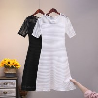 Dress Summer 2020 Black, white Average size Middle-skirt singleton  Short sleeve commute Crew neck High waist Solid color Socket A-line skirt routine Others 25-29 years old Type H Korean version 51% (inclusive) - 70% (inclusive) other other