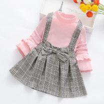 Dress Black dress, pink dress, yellow dress female Tiandihu M(90cm),L(95cm),XL(100cm),XXL(105cm),3XL(115cm),4XL(125cm),5XL(130cm) Cotton 60% other 40% spring and autumn Korean version Long sleeves lattice cotton Splicing style Class B Chinese Mainland Zhejiang Province Ningbo City