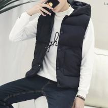 Vest / vest Fashion City Others M,L,XL,2XL The vest is black, the vest is gray, the jacket is white, the jacket is black, the jacket is yellow, and the jacket is blue banquet easy Cotton vest thick winter youth 2017 tide 2 Luo Single breasted Silk like cotton