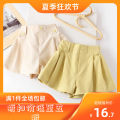 trousers Other / other female 100cm,110cm,120cm,130cm,140cm,150cm Off white, mustard yellow summer shorts leisure time Combat trousers Don't open the crotch Class B See details Three months, 12 months