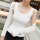 Vest sling Summer of 2019 White, black Average size singleton  routine Self cultivation commute I-shaped Solid color 25-29 years old 31% (inclusive) - 50% (inclusive) cotton Lace