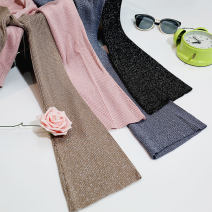 Wool knitwear Winter 2017 Average size Black, dark grey, pink, khaki Long sleeves singleton  Socket other 51% (inclusive) - 70% (inclusive) have cash less than that is registered in the accounts routine commute Self cultivation One word collar pagoda sleeve Solid color Socket Korean version