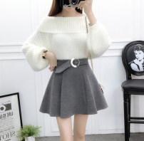 skirt Autumn 2020 S. M, l, XL, one size fits all Nail bead style black, simple style gray, Mahua style gray, nail bead style gray, flower style gray, flower style black, Mahua style black, simple style black, belt style black, ring style gray, ring style black, belt style gray, 8256 milky white YY