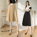 skirt Spring 2021 S,M,L,XL Black, oatmeal Mid length dress commute High waist Pleated skirt Solid color Type A 18-24 years old lan 31% (inclusive) - 50% (inclusive) other Korean version 401g / m ^ 2 (inclusive) - 500g / m ^ 2 (inclusive)
