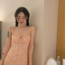 Dress Summer 2020 Floral  S, M Middle-skirt singleton  commute High waist Broken flowers Socket camisole 18-24 years old Retro